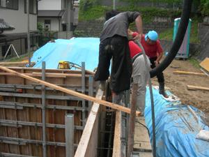 大阪 ログハウス 基礎工事
